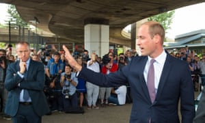 Prince William as he left the Westway sports centre.