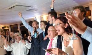 Leave.eu supporters celebrate the result in Sunderland.
