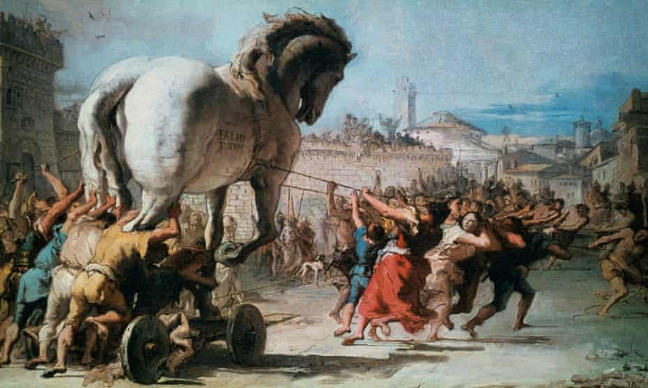 The Procession of the Trojan Horse into Troy, c1760, by Tiepolo.