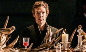 Benedict Cumberbatch as Hamlet at the Barbican centre, London