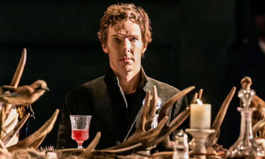 Benedict Cumberbatch as Hamlet. His Barbican performance was a popular live stream.