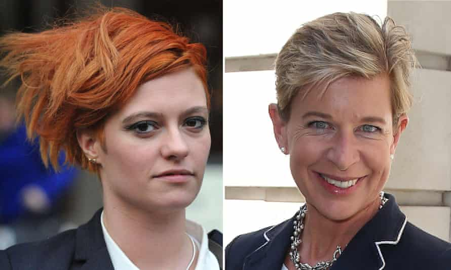 Jack Monroe, left, said the tweets from Katie Hopkins had led to death threats.