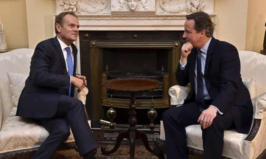 Donald Tusk held talks with David Cameron in Downing Street