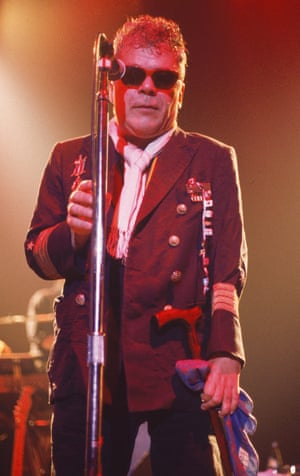 Ian Dury delivers at the Shepherds Bush Empire, London, 1999.