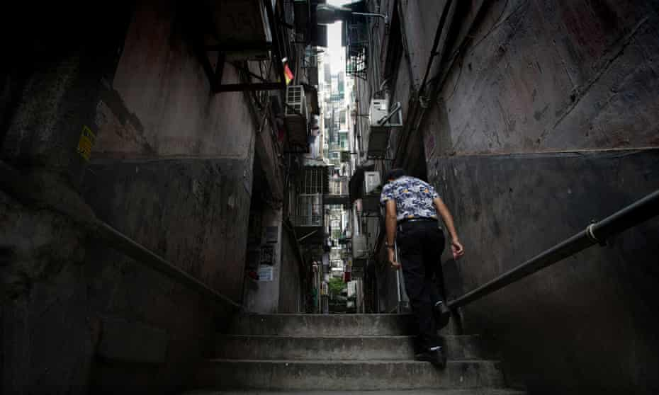 Narrow steps in Iao Hon neighbourhood, Macau