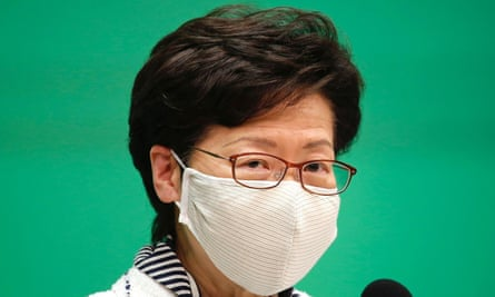 Hong Kong Chief Executive Carrie Lam said the primary polls might have 'fallen into the category of subverting state power'.