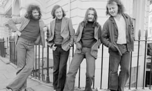 Liam O'Flynn, second left, with other members of Planxty in 1973.