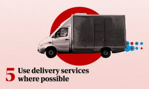 Use delivery services where possible
