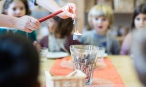 Children at the Cardiff Steiner Waldorf school.