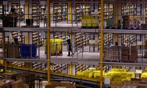 Amazon's Swansea warehouse.