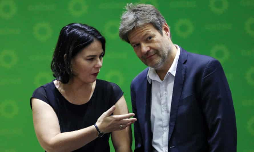 Habeck with his Green party co-leader, Annalena Baerbock