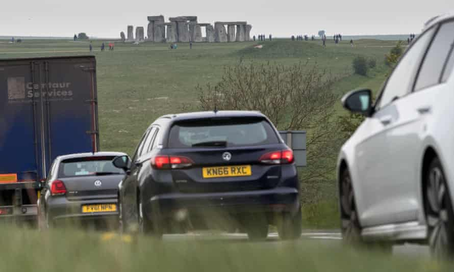Traffic on the A303 that runs beside the ancient monument.