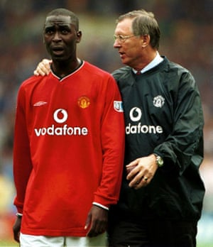 Andy Cole and Sir Alex Ferguson after losing to Chelsea in the 2000 Charity Shield. Cole says of his manager at Manchester United: 'Working with Sir Alex was an eye-opening experience. He was fantastic.'