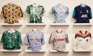 Club and country colours on display at The Art of the Football Shirt.