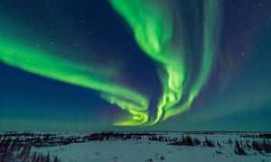 The northern lights seen from the Churchill Northern Studies Centre.