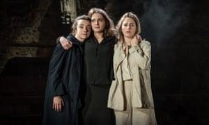 'Intensity and strangeness': Patsy Ferran, Pearl Chanda  and Ria Zmitrowicz in the Almeida's Three Sisters.