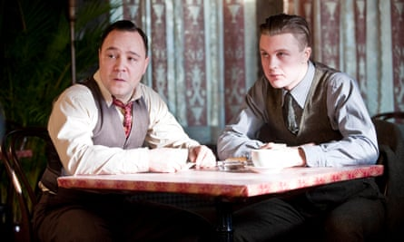 Stephen Graham as Al Capone and Michael Pitt as Jimmy Darmody in Boardwalk Empire.