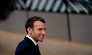 Emmanuel Macron arriving at the EU summit.