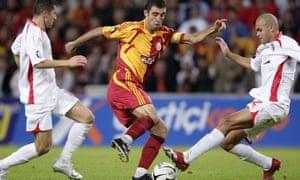 Hakan Şükür on the football pitch