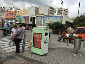 One of Ecube's bins in Ibague, Colombia