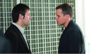 With Matt Damon in The Bourne Ultimatum, in which Considine starred as ill-fated Guardian journalist Simon Ross.