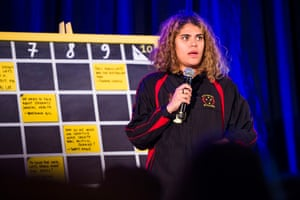 Indigenous Australian activist and writer Nayuka Gorrie pitches a session at Junket