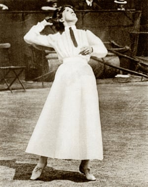 1910sDorothea Lambert Chambers won Wimbledon 7 times seven times between 1903 and 1914. Imagine how many more times she might have won had she not been wearing three petticoats and a corset.