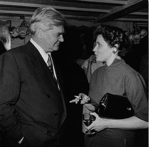 Anerin Bevan, who led the miners in the 1926 general strike, with Doris Lessing in 1957.