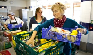 Fareshare volunteers deliver food and groceries to charities around London.