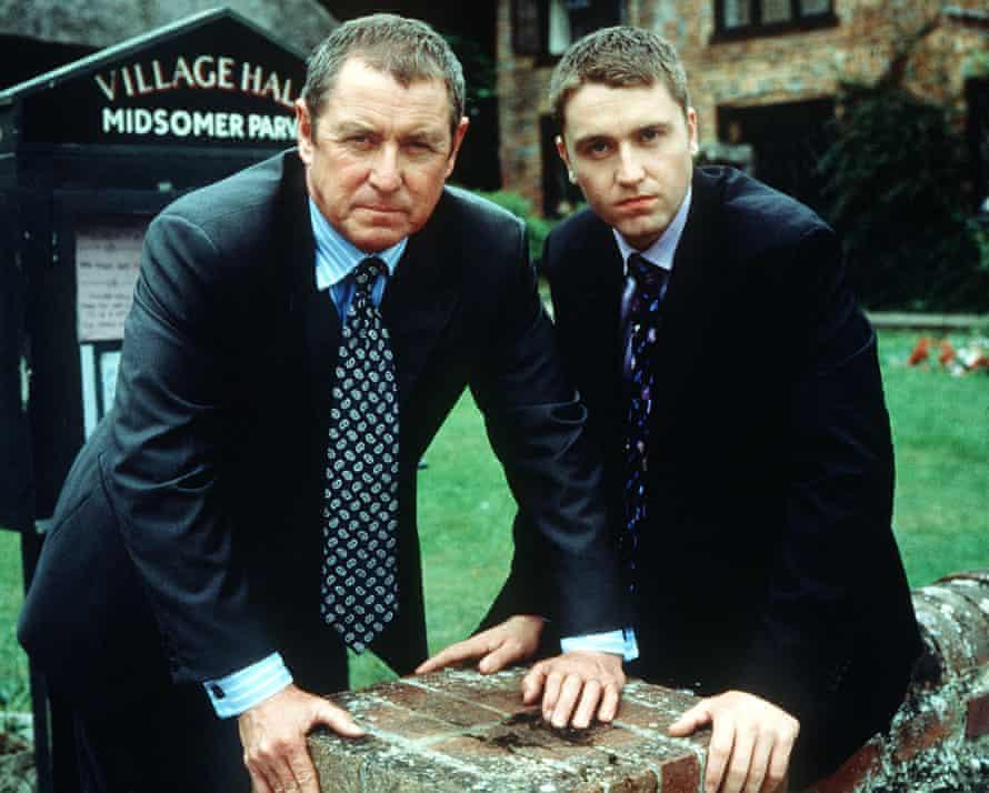 JOHN NETTLES (left) and DANIEL CASEY in MIDSOMER MURDERS IV - 'ELECTRIC VENDETTA' on Sunday 2 September 2001.