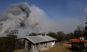 Rural Fire Service crews in Penrose, NSW