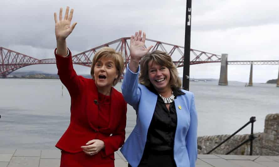 Michelle Thomson, right, pictured on the campaign trail before the general election this year with SNP leader, Nicola Sturgeon.