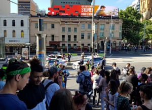 Flinders Street station is blocked by the police following the incident