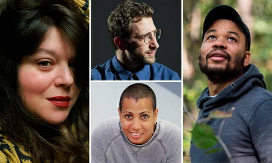 View us as a collective … clockwise from left, Tai Shani, Lawrence Abu Hamdan, Oscar Murillo, Helen Cammock