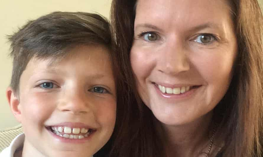 Josh, aged nine with his mum Lucy