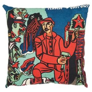 Red Man cushion by We Love Cushions.