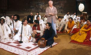 Peter Brook directing the Mahabharata in 1987 at the Bouffes du Nord in Paris.