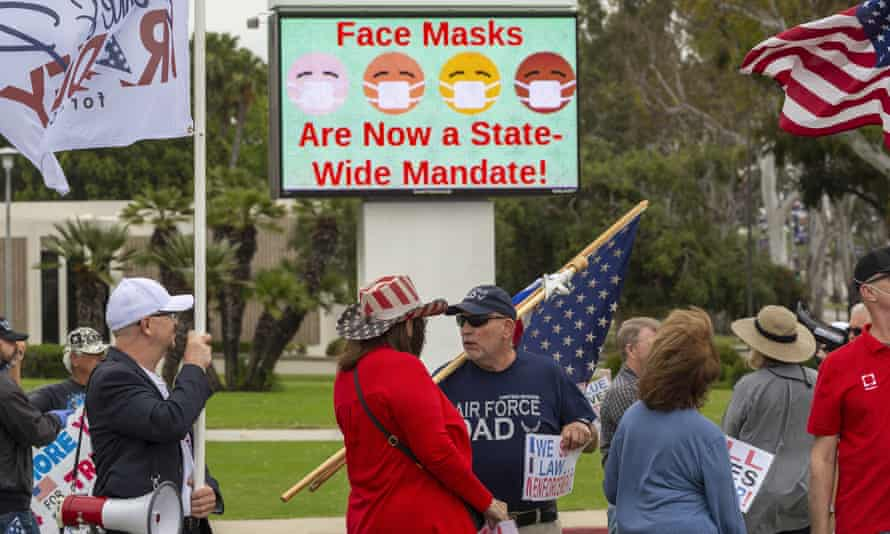 face mask sign in california