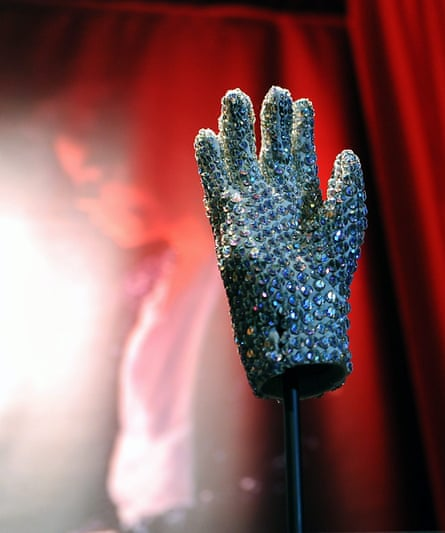 A crystal glove worn by Michael Jackson at the 1983 Grammy awards.