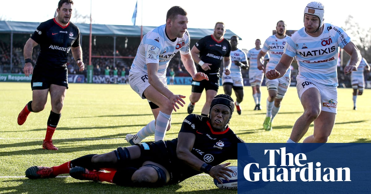 Owen Farrell carries Saracens past Racing 92 to keep Europe dreams alive