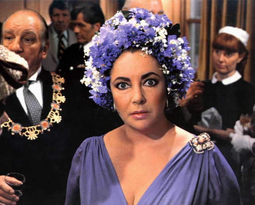 Elizabeth Taylor in the 1980 film of The Mirror Crack'd.