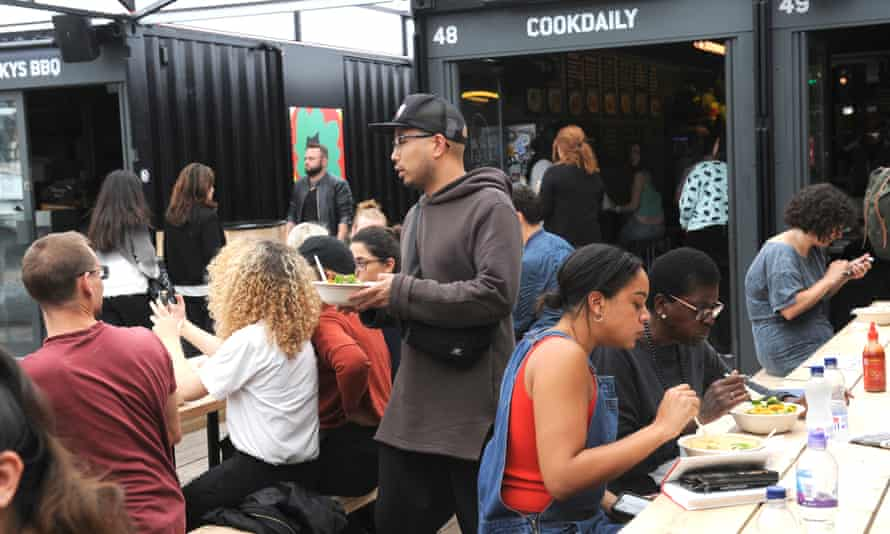 Cook Daily a Vegan fast food restaurant at Box Park in Shoreditch, London