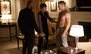 Arinzé Kene, Nico Mirallegro and Russell Tovey in The Pass.