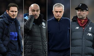 Frank Lampard, Pep Guardiola, José Mourinho and Jürgen Klopp will take their sides into the Champions League group stages starting next week.
