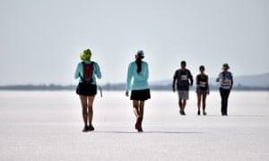 Athletes taking part in an ultra-marathon, Aksaray, Turkey.