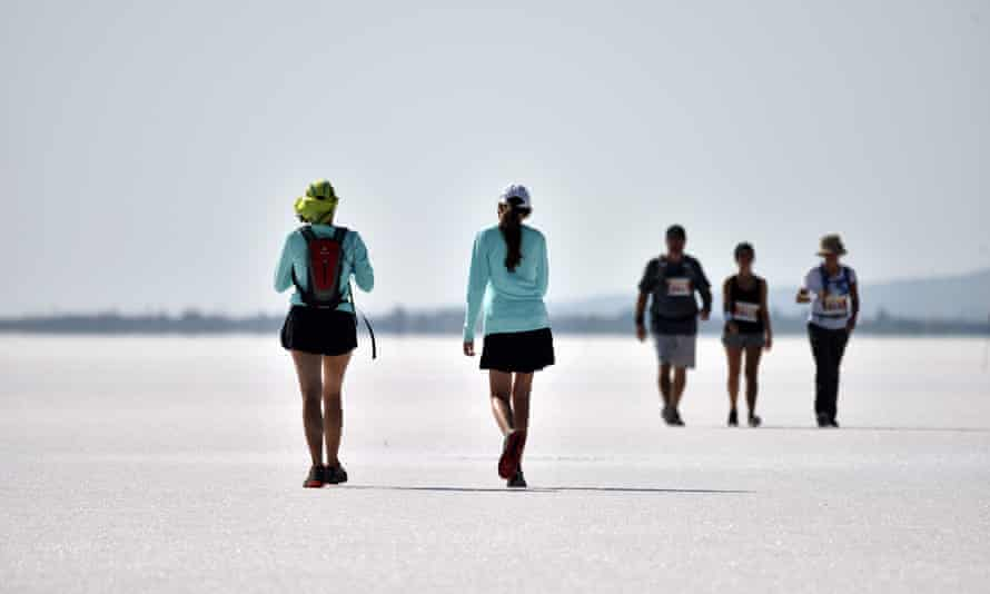 Athletes taking part in an ultra-marathon, Aksaray, Turkey.