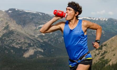 Scott Jurek running in the mountains.