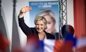 Marine Le Pen during a campaign meeting earlier this week