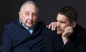 Seymour Bernstein with director Ethan Hawke.