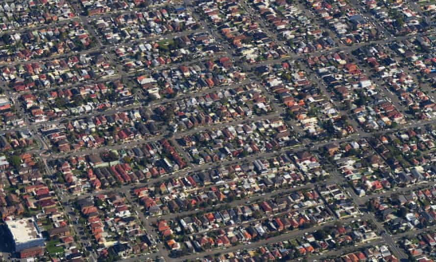 An aerial view of Sydney's inner western suburbs. The government is keen to find ways to encourage people to move to the regions.